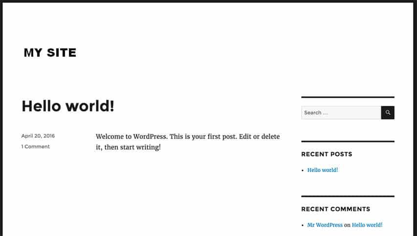 successfull-installed-wordpress